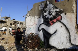 BANKSY DENONCE LA DESTRUCTION DE GAZA