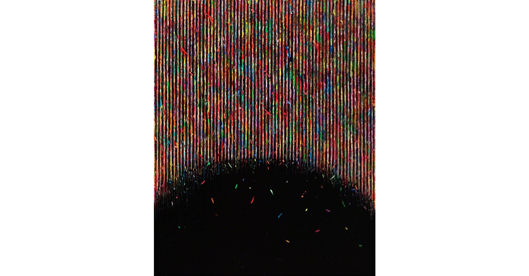 Hur Kyung-Ae No.386, 2014 Acrilyc on canvas 63 4/5 × 51 1/5 in 162 × 130 cm