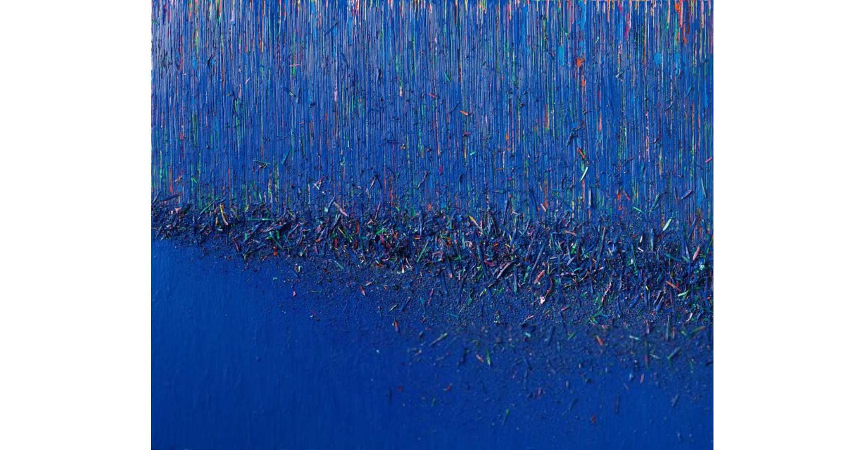 Hur Kyung-Ae BL0615P2, 2015 Acrylic on canvas 51 1/5 × 63 4/5 in 130 × 162 cm