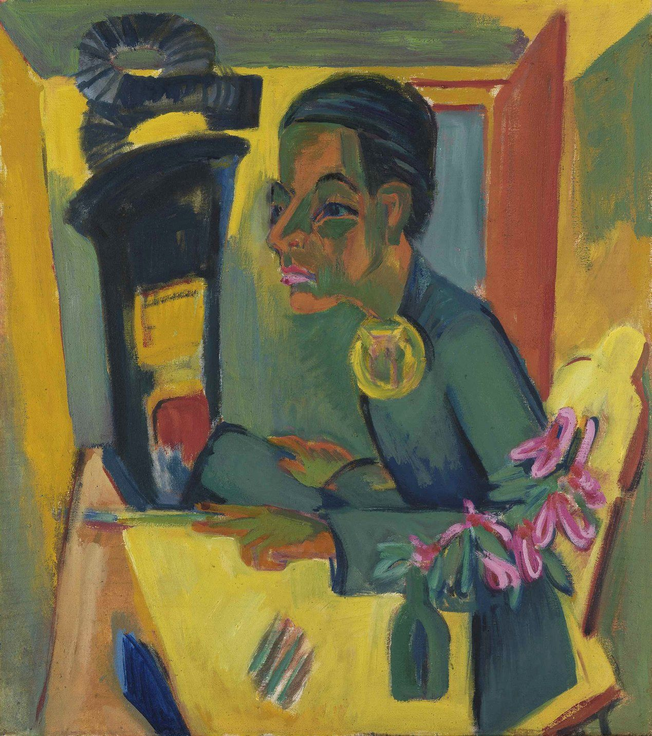 Ernst Ludwig Kirchner, le peintre (Autoportrait), 1920 Huile sur toile Staatliche Kunsthalle Karlsruhe © bpk / Staatliche Kunsthalle Karlsruhe