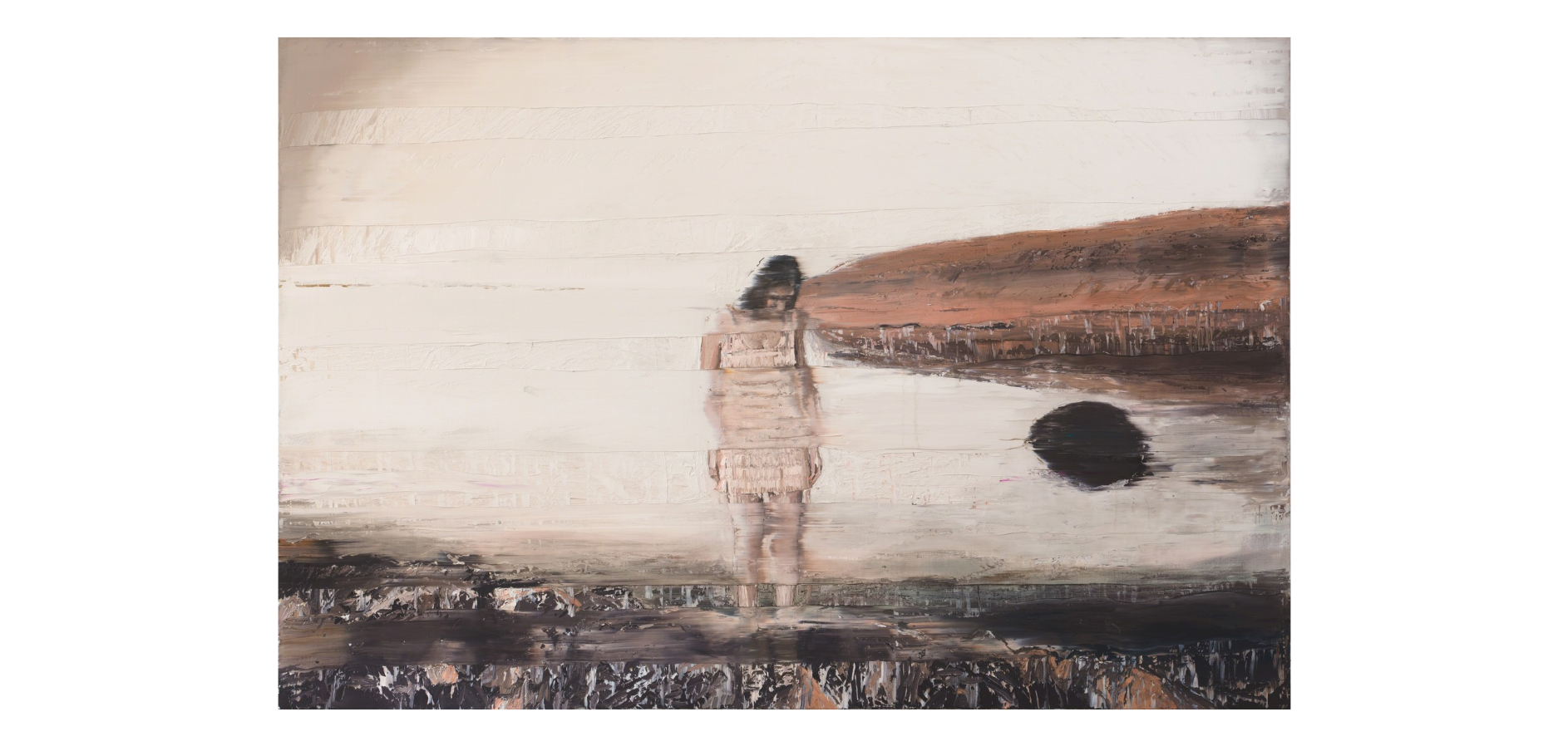 Andy Denzler Black Stone Island, 2015 Oil on canvas 78 7/10 × 118 1/10 in 200 × 300 cm
