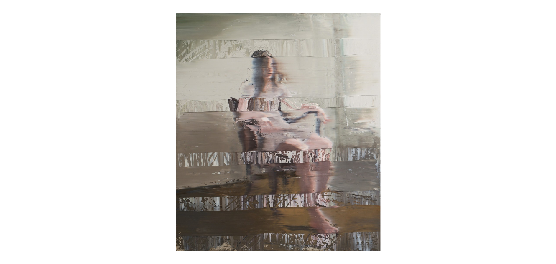 Andy Denzler Girl In A Leather Chair, 2015 Oil on canvas 55 1/10 × 47 1/5 in 140 × 120 cm