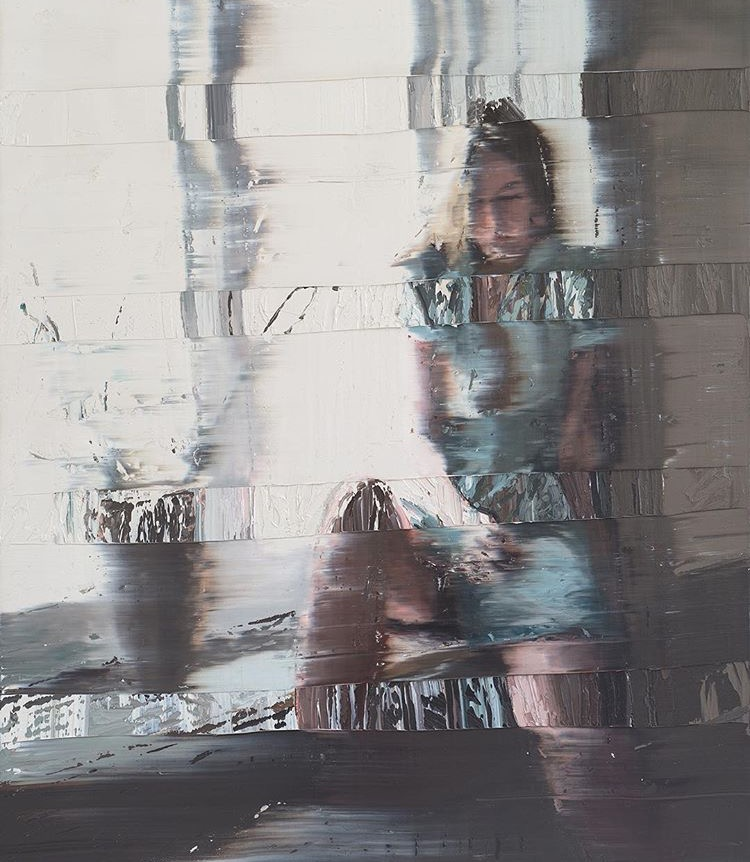 Andy Denzler - Distorted Window, 2015 - Oil on canvas - 55 1/10 × 47 1/5 in 140 × 120 cm